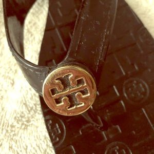 Tory Burch Black Patent Thora Jelly Sandal Size 9
